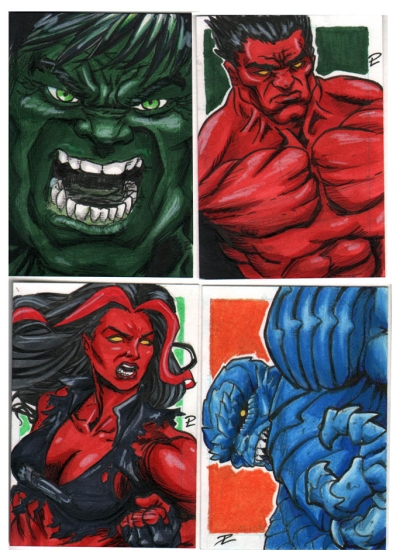 HULKS SketchCards