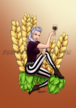 One in a series of illustrations done for Craft Beer Babes