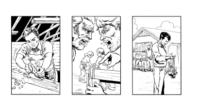 Comicbook style Pitch Boards