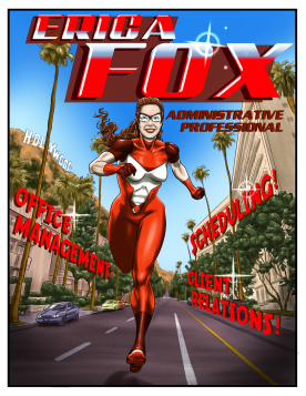 Comic Book style resume commission